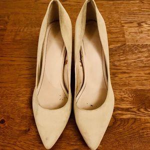 Beige corporate wear heels